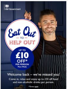 eat out to help out poster